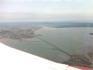 Le pont et l'embouchure de la Seudre