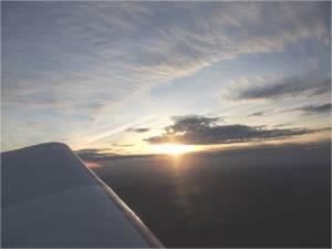 le coucher de soleil sur le perigord du 31 decembre 2012