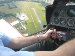 Verticale aérodrome en retour du premier vol avec instructeur