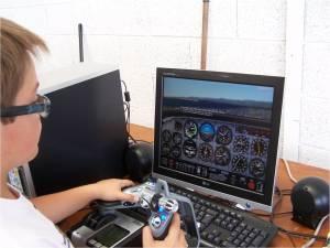 le simulateur de vol, c'est du sérieux