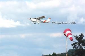 Le nouvel avion de l'aeroclub le Cessna172-GX-au-decollage