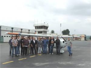 5-les benevoles du samedi devant le Cessna172-GX