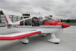 Le départ pour un vol à bord du DR400