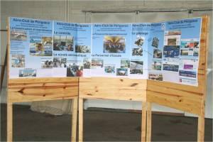 Les panneaux sur les métiers de l'air