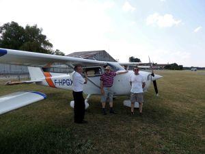 A-l'arrivée sur l'aérodrome de Cerny