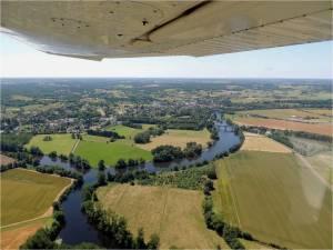 la confluence entre la Creuse et la Gartempe a la Roche Pozay