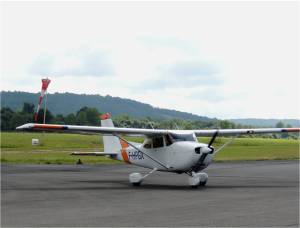 Le Cessna 172 au retour du 1er vol