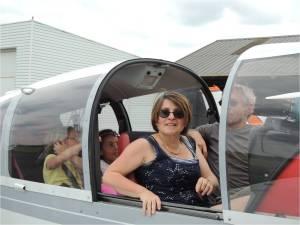 Ecole Yves Péron, la maîtresse au retour du vol