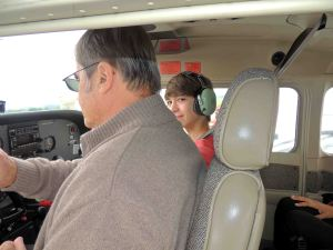 En place copilote sur cessna 172