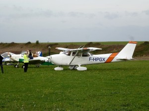 Le Cessna 172 au parking
