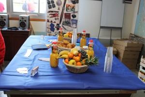 La table de l'aerodej dans les locaux de l'aeroclub d'Angouleme