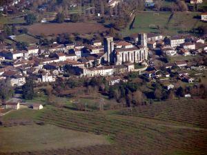 Eglise de La Roumieu lors du voyage retour