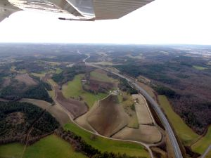 L'autoroute A89 au décollage de Périgueux