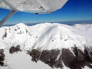 Le massif du Sancy sous la neige