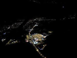 Les lumières du centre commercial de la Feuilleraie