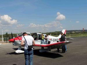 Embarquement en place pilote d'un futur pilote