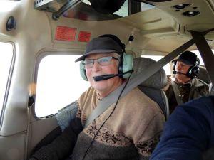 Mon copilote Bernard et notre passager -pas clandestin-