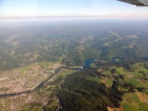 La ville d'Argentat en Corrèze