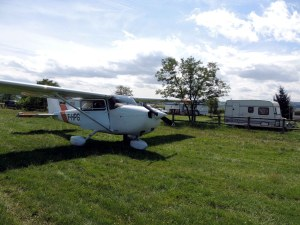 L'aérodrome de Brioude, version aérodrome de campagne avec camping sur place