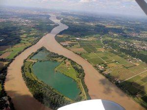 la Garonne avec l'Ile de La Lande