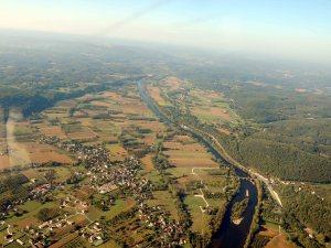 La riviere Dordogne a Calviac