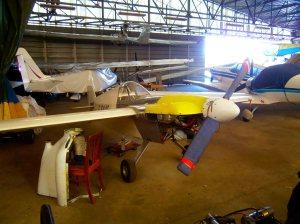 Le hangar de l'aérodrome de Cassagnes