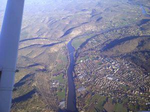 Le lot à la sortie Est de la ville de Cahors