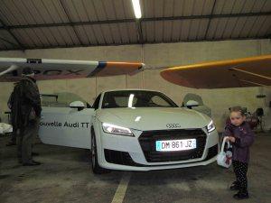 La nouvelle Audi TT sous l'aile du Cessna 172