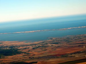 Zoom sur l'étang de Leucate