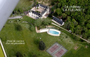 "Purpose : visit of the ""La Fleunie"" castle(picture taken during a previous flight)"