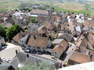 Vue du sommet de la tour des fiefs : les toits de Sancerre.