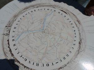 Table d'orientation au sommet de la tour des fiefs