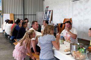 La pause déjeuner des bénévoles