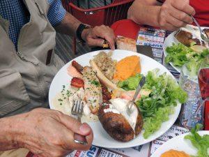 L'assiette de poissons à la plancha de Bernard
