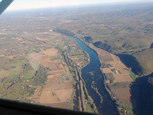 Les rapides sur la Dordogne en amont de Lalinde