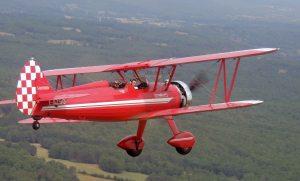 """Un vol du Boeing Stearman à l'occasion des journées """"Portes Ouvertes"""""""