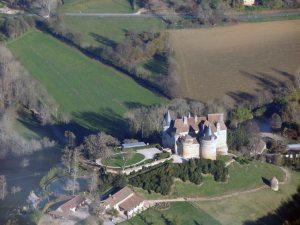 Le chateau de Bannes au retour d'Agen