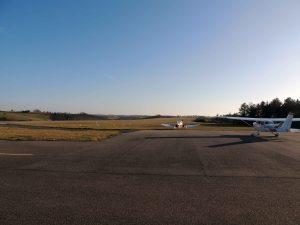 L'aérodrome de Fumel en ce mois de décembre