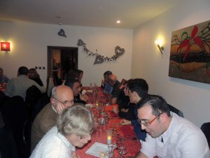 Le repas de Noel à la palombière