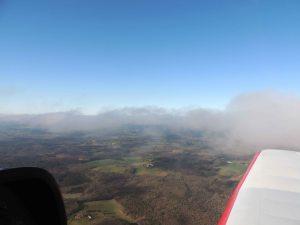 De retour en longeant la couche nuageuse