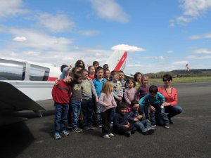 Les enfants du Centre Pédagogique Aéronautique