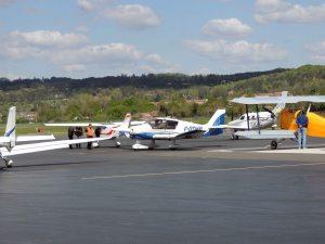 L'arrivée des derniers avions