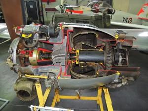 Mécanique Turbo réacteur de 1953