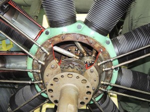Mécanisme moteur en étoile
