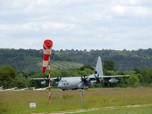 Le C130 à l'atterrissage