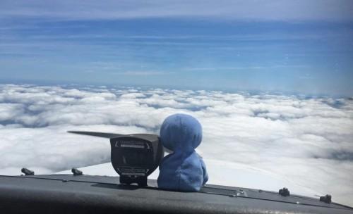 Grover au dessus des nuages