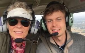 L'équipage du Cessna