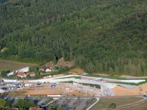 Le Bâtiment de Lascaux 4 en cours d'achèvement