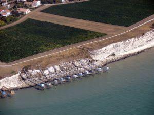 Les cabanes de pécheurs en bordure de la Gironde